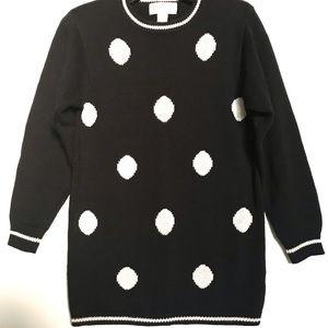 Vintage 80's Petite Sophisticate Polka Dot Sweater
